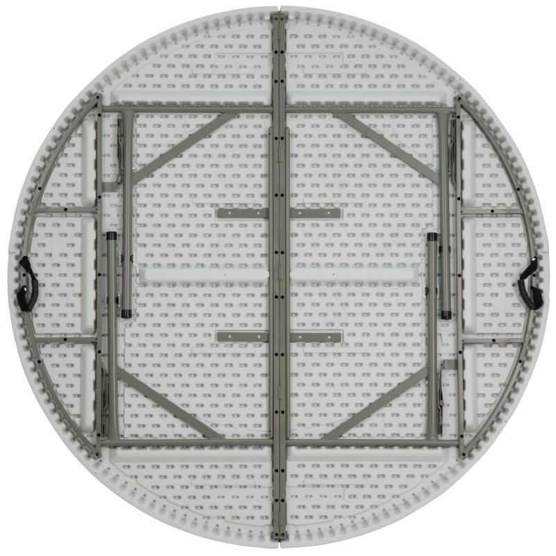 MFO 72u0027u0027 Round Bi Fold Granite White Plastic Folding Table
