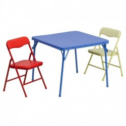 MFO Kids Colorful 3 Piece Folding Table and Chair Set