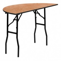 MFO 48'' Half-Round Wood Folding Banquet Table