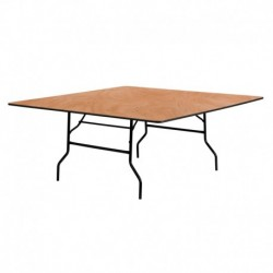 MFO 72'' Square Wood Folding Banquet Table