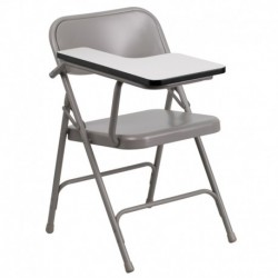 MFO Premium Steel Folding Chair with Right Handed Tablet Arm