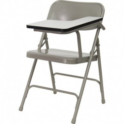 MFO Premium Steel Folding Chair with Left Handed Tablet Arm