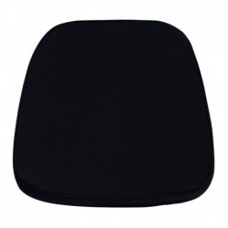 MFO Soft Black Fabric Chiavari Chair Cushion