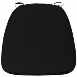 MFO Soft Black Fabric Chiavari Bar Stool Cushion