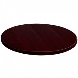 MFO 48'' Round Mahogany Veneer Table Top