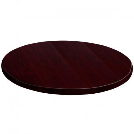 MFO 60'' Round Mahogany Veneer Table Top