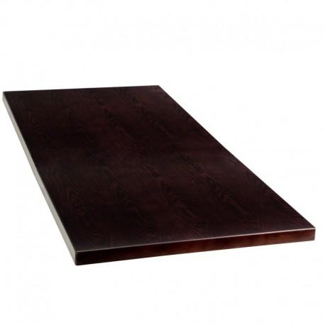 MFO 24'' x 45'' Rectangular Walnut Veneer Table Top