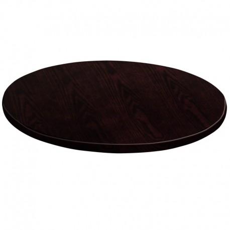 MFO 24'' Round Walnut Veneer Table Top