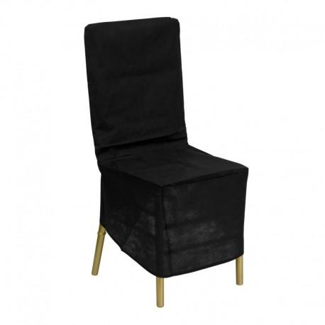 MFO Black Fabric Chiavari Chair Storage Cover