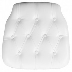 MFO Hard White Tufted Vinyl Chiavari Chair Cushion
