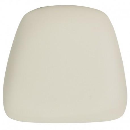 MFO Hard Ivory Vinyl Chiavari Bar Stool Cushion