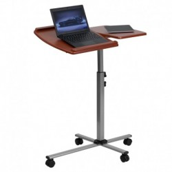 MFO Angle and Height Adjustable Mobile Laptop Computer Table with Cherry Top