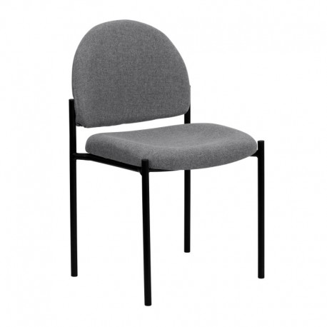 MFO Gray Fabric Comfortable Stackable Steel Side Chair