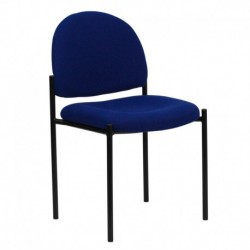 MFO Navy Fabric Comfortable Stackable Steel Side Chair