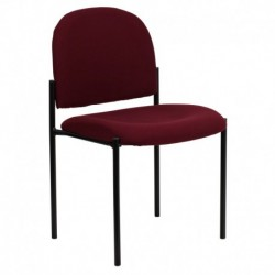 MFO Burgundy Fabric Comfortable Stackable Steel Side Chair