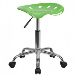 MFO Vibrant Spicy Lime Tractor Seat and Chrome Stool