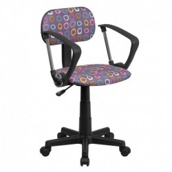 MFO Multi-Colored Pattern Printed Computer Chair with Arms