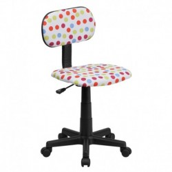 MFO Multi-Colored Dot Printed Computer Chair