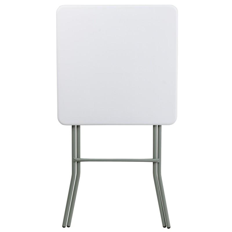 MFO 27u0027u0027 Square Granite White Plastic Bar Height Folding Table