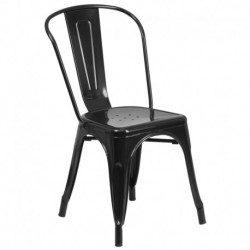 MFO Black Metal Chair