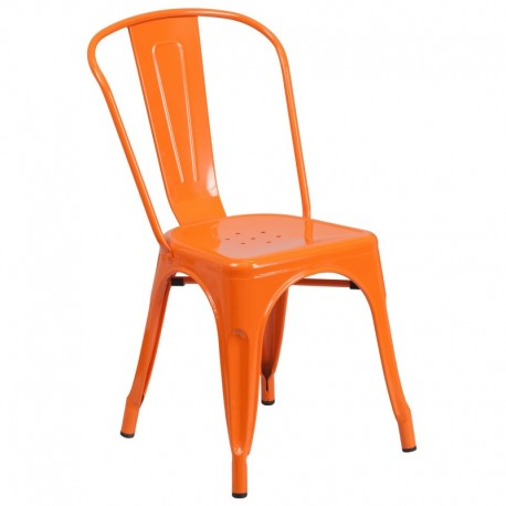 MFO Orange Metal Chair