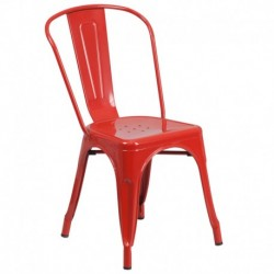 MFO Red Metal Chair