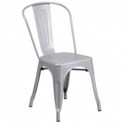 MFO Silver Metal Chair