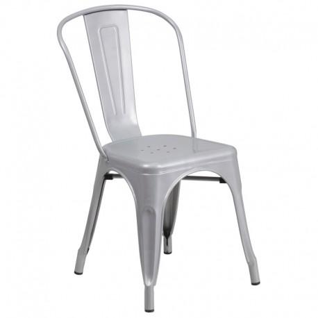 MFO Silver Metal Chair