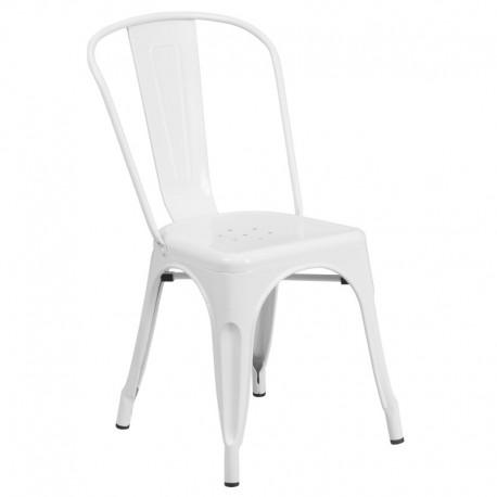 MFO White Metal Chair