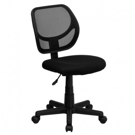 MFO Mid-Back Black Mesh Task Chair and Computer Chair