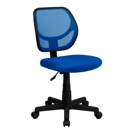 MFO Mid-Back Blue Mesh Task Chair and Computer Chair