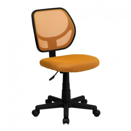 MFO Mid-Back Orange Mesh Task Chair and Computer Chair