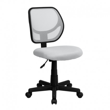 MFO Mid-Back White Mesh Task Chair and Computer Chair