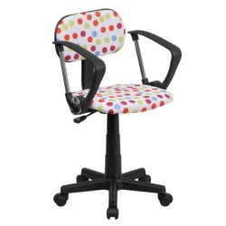 MFO Multi-Colored Dot Printed Computer Chair with Arms