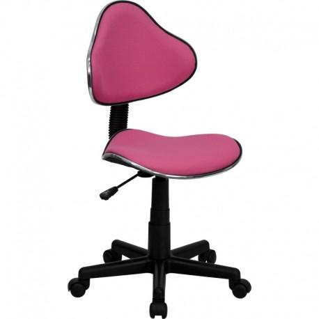 MFO Pink Fabric Ergonomic Task Chair