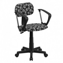 MFO Peace Sign Printed Computer Chair with Arms