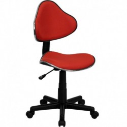 MFO Red Fabric Ergonomic Task Chair