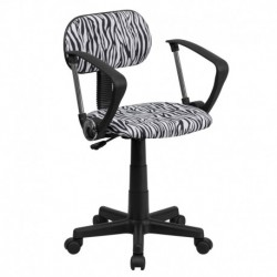 MFO Black and White Zebra Print Computer Chair with Arms