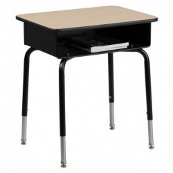 MFO Student Desk with Open Front Metal Book Box