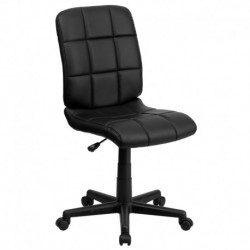 MFO Mid-Back Black Quilted Vinyl Task Chair