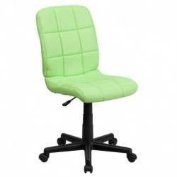 MFO Mid-Back Green Quilted Vinyl Task Chair
