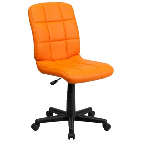 MFO Mid-Back Orange Quilted Vinyl Task Chair