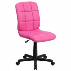 MFO Mid-Back Pink Quilted Vinyl Task Chair