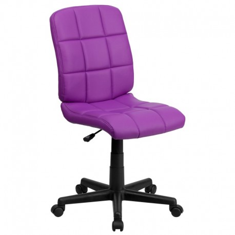 MFO Mid-Back Purple Quilted Vinyl Task Chair