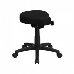 MFO Black Saddle-Seat Utility Stool with Height and Angle Adjustment