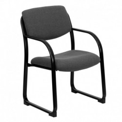 MFO Gray Fabric Executive Side Chair with Sled Base