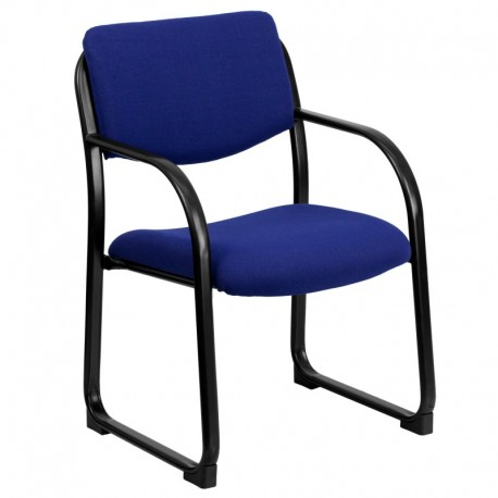 MFO Navy Fabric Executive Side Chair with Sled Base