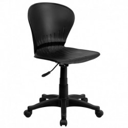 MFO Mid-Back Black Plastic Swivel Task Chair