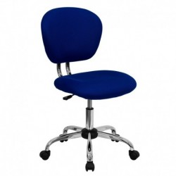 MFO Mid-Back Blue Mesh Task Chair with Chrome Base