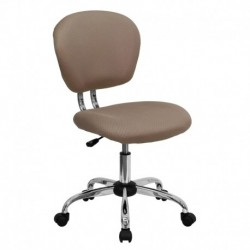 MFO Mid-Back Coffee Brown Mesh Task Chair with Chrome Base